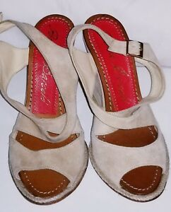 53b8bb23bc7e PALOMA BARCELO Women s wedge Suede leather beige spring summer Shoes ...