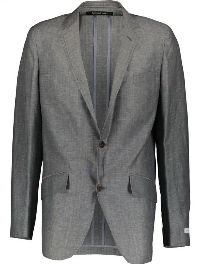 RICHARD JAMES Grau Wool Blend Lightweight Suit 44R