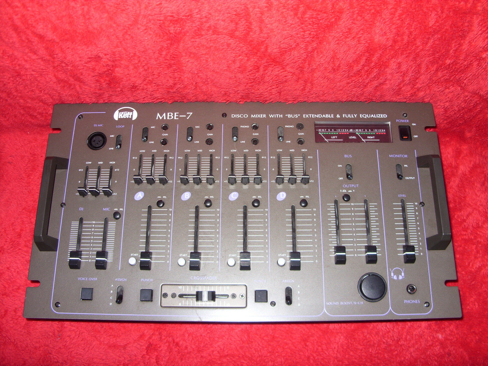 Keff MBE-7 Disco Mixer With Bus Extendable & Fully Equalized