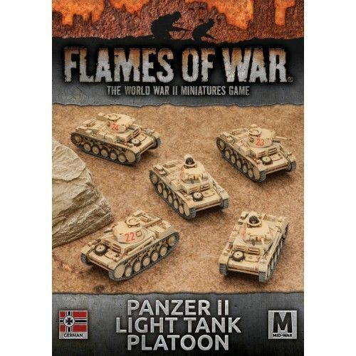Flames of war - Panzer II luz led tanque platoon - 1 100