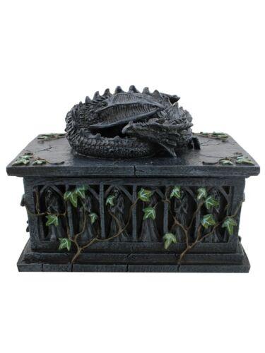 Nemesis Ornament Dragon Tarot Card Box Black 18cm