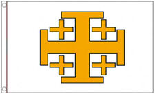 JERUSALEM CROSS FLAG 5' x 3' Old Medieval Christian Crusaders Knights Templar