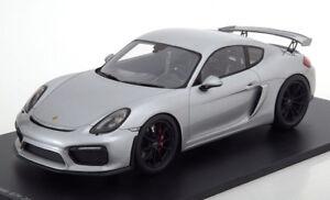 Spark 2016 Porsche Caïmans (981) Gt4 Argent En 1/18 Echelle Nouvelle Version !