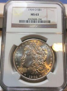 1904-O-Morgan-Silver-Dollar-NGC-MS63-Rusty-Fish-Hook-Variety-Die-Clashes-VAM-4-B