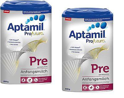 Ernährung Baby Geschickt Milupa Aptamil Profutura Pre Anfangsmilch 2x 800g 1 Jahr Haltbar Ab Kaufdatum QualitäT Und QuantitäT Gesichert