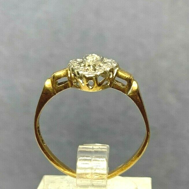Antique Victorian 14k Yellow and White Gold Pierc… - image 8