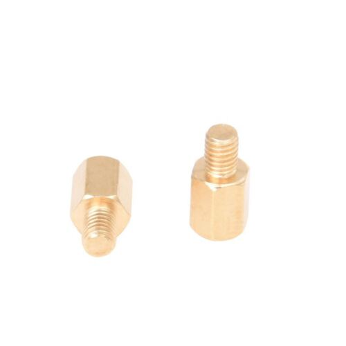 20 Pcs PC PCB Motherboard Brass Standoff Hexagonal Spacer M3 6+4mm CP