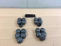 (20) Audi Lug Bolt/nut Caps Covers Gray 17mm Genuine Part 4m0 601 173