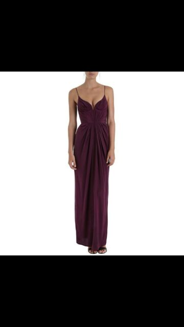 Zimmermann Long Maxi Dress Size 0 Ox Blood