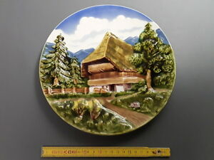 Ancienne assiette d corative murale c ramique majolika - Assiette murale ...