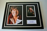 Tom Baker SIGNED FRAMED Photo mount Autograph 16x12 display doctor Who TV COA