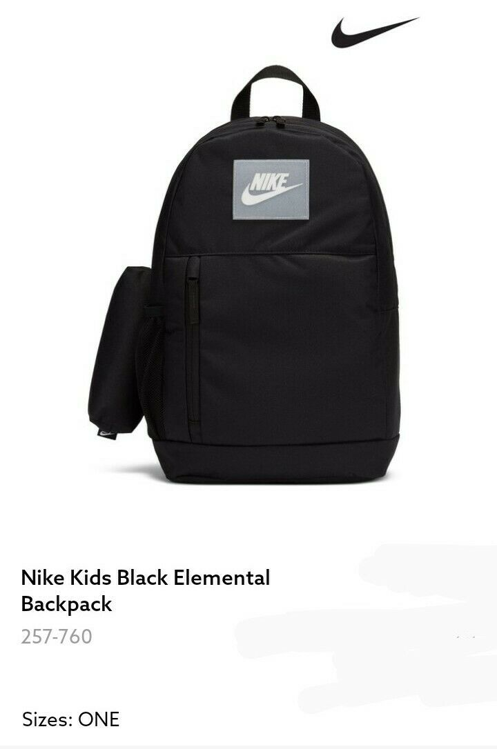 Nike Black Elemental Backpack with Pencil Case