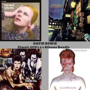 David-Bowie-1970-039-s-Classic-Album-Bundle-4-x-180gram-Vinyl-LP-039-s-NEW-SEALED
