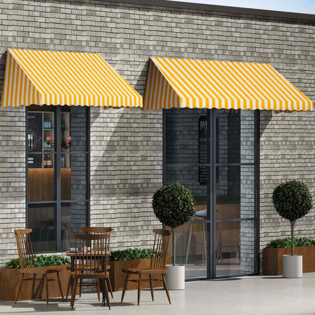 VidaXL Toldo para Bar 300x120cm Naranja blancoo Accesorios Casa Jardín Terraza