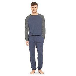 Mossimo Mens Knit Pajamas 2 Piece Navy Top & Bottoms PJ Set ...