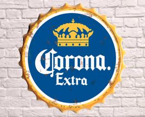 40cm Brew Dog Beer Lager Retro Wall Display Sign Metal Bottle Top Drink Cap Blue