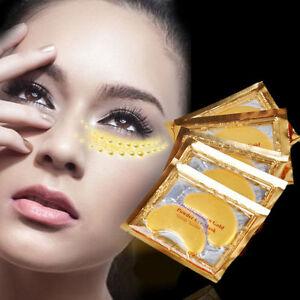 10-Pair-Crystal-Collagen-24k-Gold-Under-Eye-Gel-Pad-Face-Mask-Anti-Aging-Wrinkle