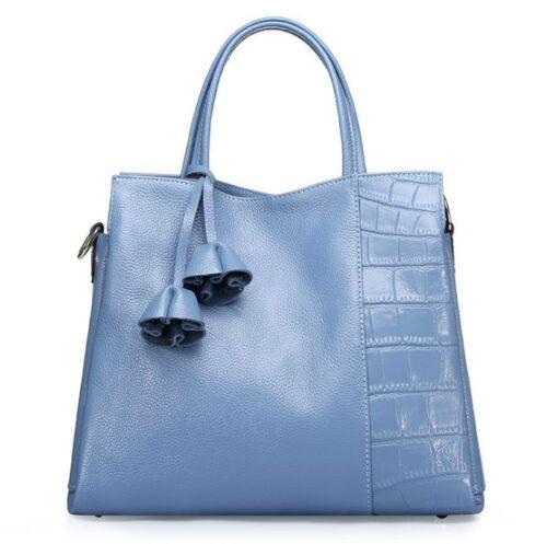 \Women/'s Genuine Real Cow Leather Messenger Shoulder Bag Handbag Fashion Black