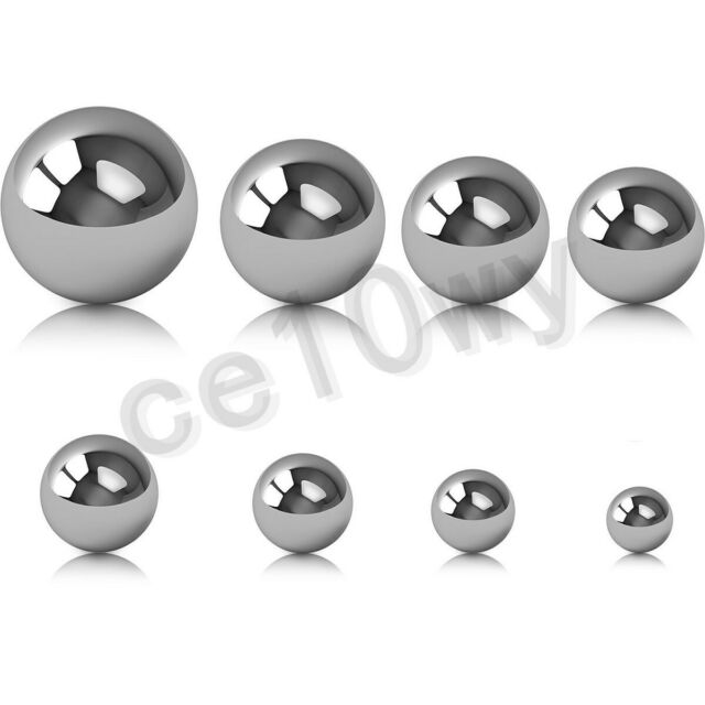 "6.35mm 1//4/"" 500 PCS 304 Stainless Steel Loose Bearing Balls G100 Bearings"