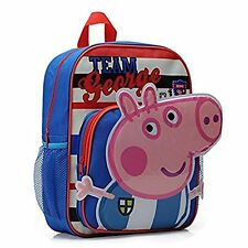 Kids Boys Cute Cartoon Peppa Pig Backpack School Bookbag Satchel Rucksack Blue