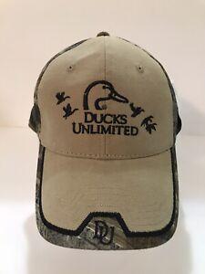 Ducks Unlimited Du Leader Camouflage Hunting Strapback Outdoor Cap Hat New Ebay