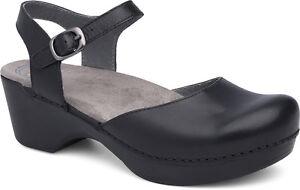 Women-039-s-Dansko-Mary-Jane-Clog-Sam-Black-Leather