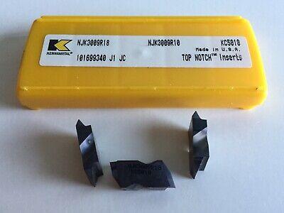 5 INSERTS AS SHOWN. KENNAMETAL NJK3010R16 SERIES KC5010 INSERTS...