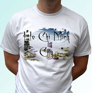 Cho Hi Minh City White T Shirt Top Flag Vietnam Design Mens