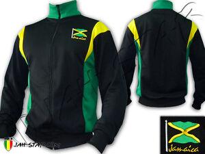Veste-Jacket-Rasta-Reggae-Jamaique-Drapeau-Jamaica-Brode-Jah-Star