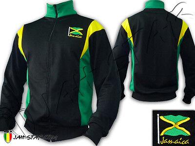 Veste Jacket Rasta Reggae Jamaique Drapeau Jamaica Brodé Jah Star | eBay