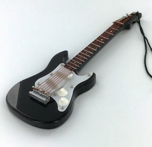Miniature-Black-Electric-Guitar-Christmas-Tree-Ornament-Holiday-Music-Gift