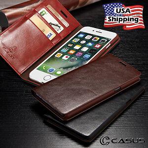 Pour-iPhone-XS-MAX-XR-8-7-Plus-en-Cuir-Veritable-Slim-Portefeuille-Carte-Flip-Case-Cover