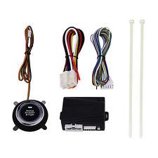 Blue Illumination Car Engine Start Push Button Switch Ignition Starter Kit 12V