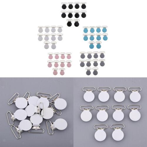 50pcs Metal Pacifier Clips//Suspender Clips//Garment Clips for Pacifier Dummy