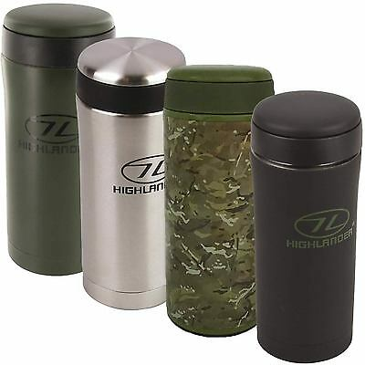 Kombat Ammo Pouch Flask Military Thermos Thermal Drinks Mug Cup Bottle OD Green