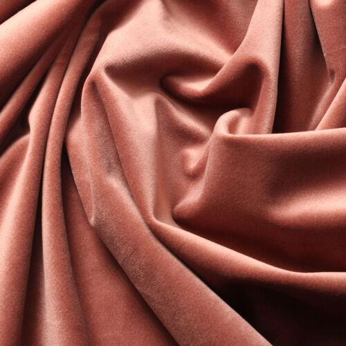 VELVET Upholstery Drapery Home Fabric 60/'/' 290gsm SOLID ROSE GOLD