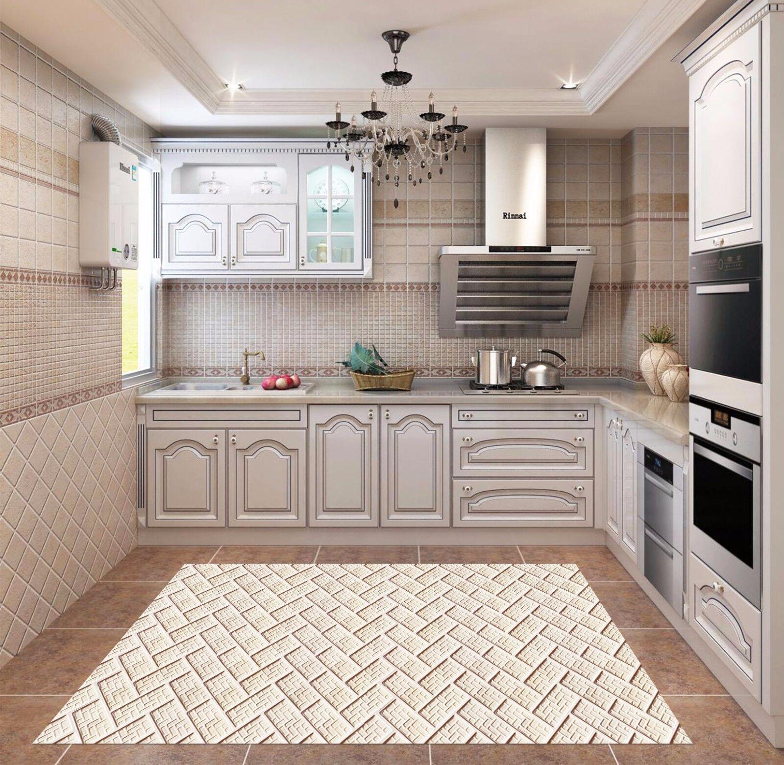 3D White Texture 795 Kitchen Mat Floor Murals Wall Print Wall Deco UK Carly