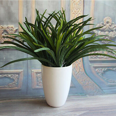 New Green Artificial Orchid Leaves Cymbidium Grass Lifelike Plants Home Garden