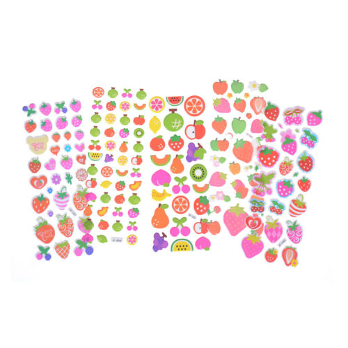 5Sheets Cute Cartoon Fruits Scrapbooking Bubble Puffy Stickers Rewards Kids FO