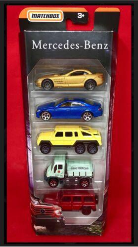 6x6 UNIMOG G-Classe MBX AMG 2019 MATCHBOX MERCEDES-BENZ 5 Pack Reflex McLaren CLS500