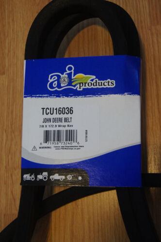 REPLACEMENT for JOHN DEERE TCU16036 Z-Trak DECK BELT with KEVLAR