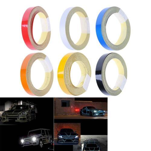 1cmx5m Car Reflective Tape Auto Motorcycle Decoration Safety Warning Sticker