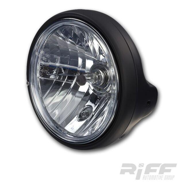 H4 KLAR GLAS MOTORRAD SCHEINWERFER DUCATI MONSTER 750 996 1000 BLACK HEAD LIGHT