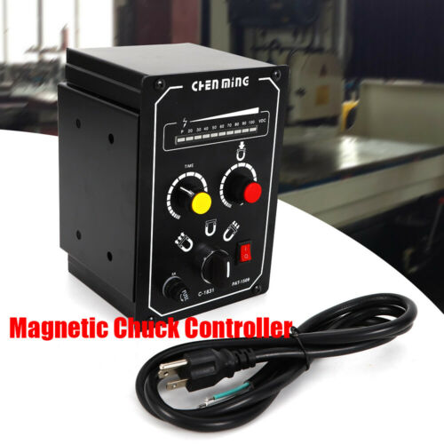 Electro Magnetic Chuck Controller 110V 5A Long lifespan Demagnetizing 9-15s LED