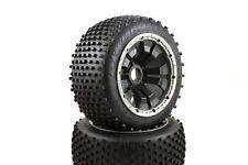 Dirt Buster Buggy Wheels Black Poison Rims Rear Pair 170x80 Fits HPI Baja KM 1/5