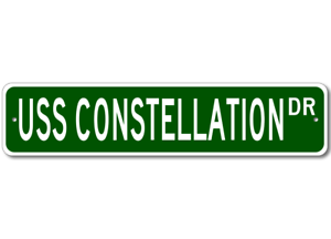 USS-CONSTELLATION-CV-64-Ship-Navy-Sailor-Metal-Street-Sign-Aluminum