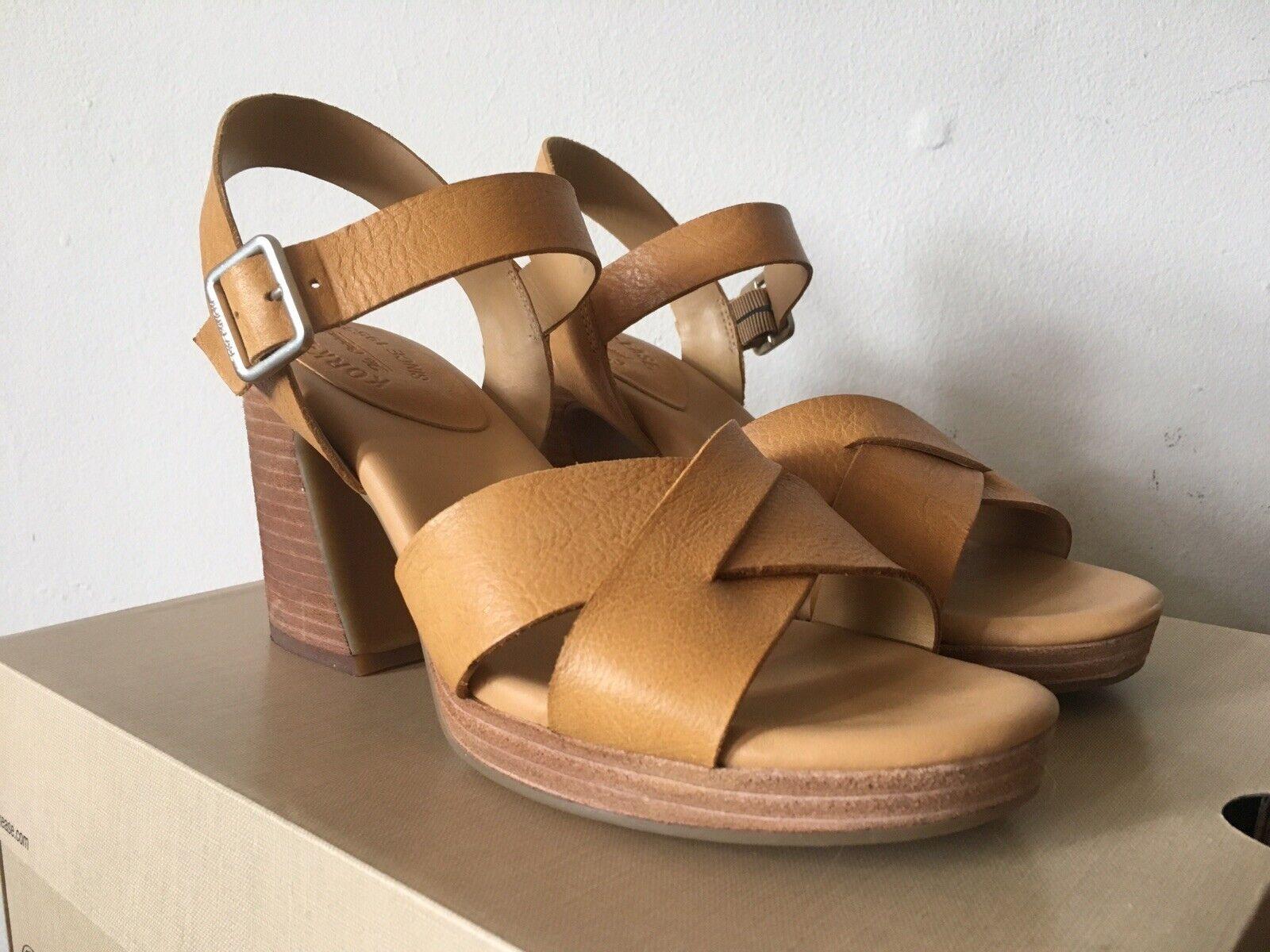 Kork  -Ease Kristjana Heeled Sandal Mexico giallo Leather Dimensione 9 - Worn Due volte  vendite online