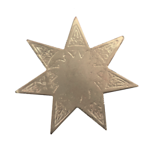 Star with 7 Points Nickel-Plated Symbol For Orange Order Collarette