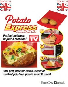Image Is Loading Microwave 4 Minutes Jacket Potato Cooker Bag Fast