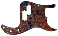 P Bass Precision Pickguard Custom Fender 13 Hole Guitar Pick Guard Bubbling Rust